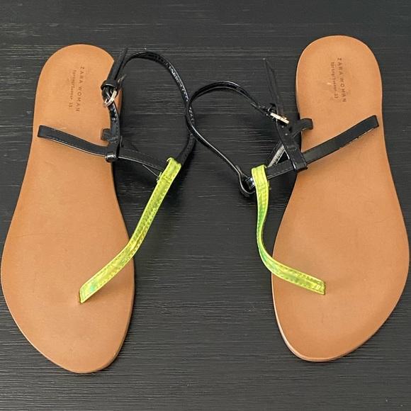 Zara thongs sandals like new condition
